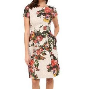 New With Tags Adrianna Papell Short Floral Dress